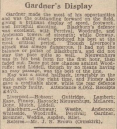 1942 LFC v BRFC Lancashire Cup 3
