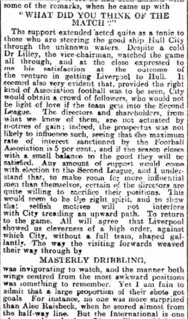 1905 Hull City v Liverpool 2