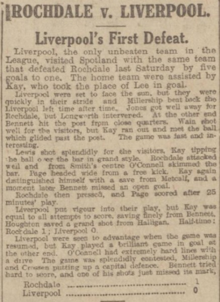 1917 Rochdale v Liverpool Manchester Evening News 1