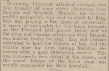 1917 Rochdale v Liverpool Rochdale Observer 2