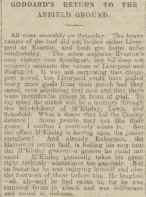 1918 Liverpool v Stockport County Echo 1