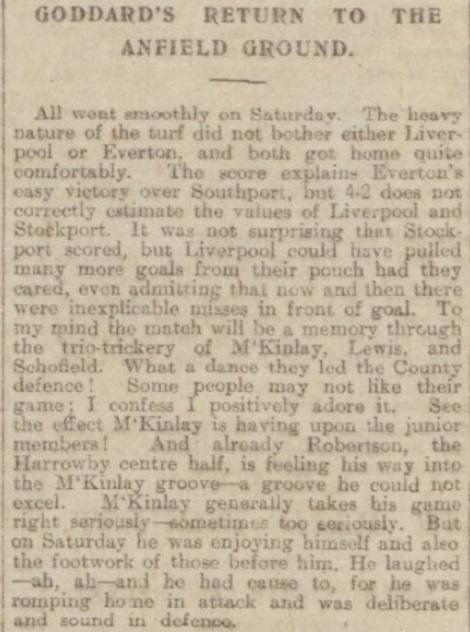 1918 Liverpool v Stockport County Echo 1