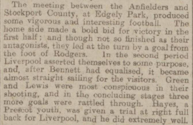 1918 Stockport County v Liverpool 1