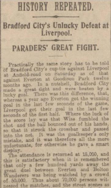 1907 Liverpool v Bradford City report 1