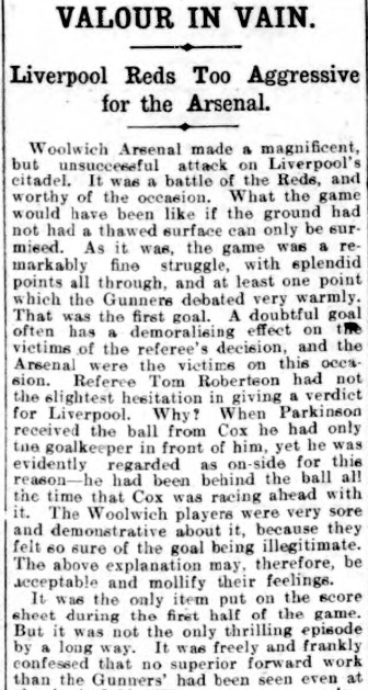 1907 Liverpool v Woolwich report 1