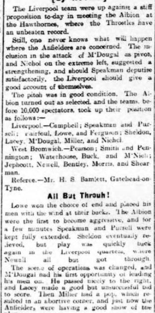 1914 WBA v Liverpool Daily Post 2