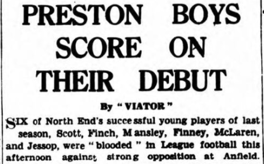1940 Liverpool v Preston North End Lancashire Evening Post 1
