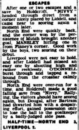 1940 Liverpool v Preston North End Lancashire Evening Post 4