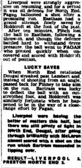 1940 Liverpool v Preston North End Lancashire Evening Post 5