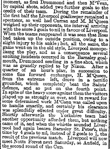 1895 Liverpool v Barnsley St Peters FA Cup 2