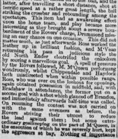 1895 Liverpool v Blackburn Rovers Lancashire Cup 2
