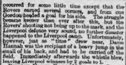 1895 Liverpool v Blackburn Rovers Lancashire Cup 3