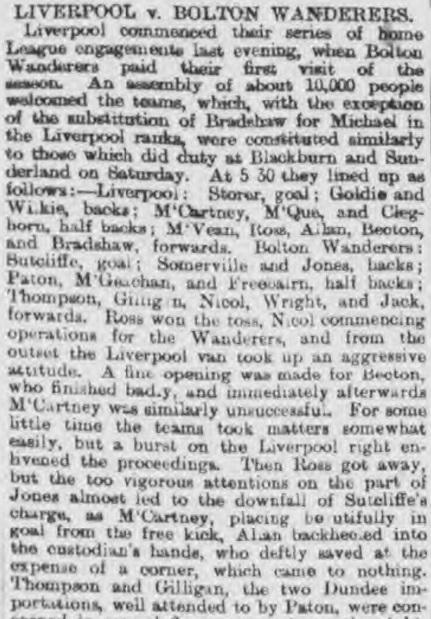 1896 Liverpool v Bolton Wanderers Mercury report 1