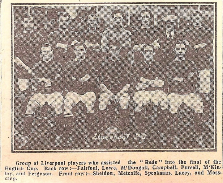 1914 Liverpools FA Cup final team