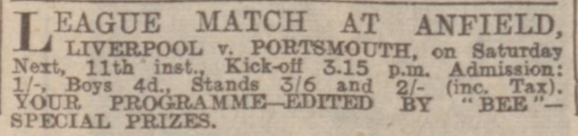 advertisement-liverpool-v-portsmouth-9-mar-1939-evening-express