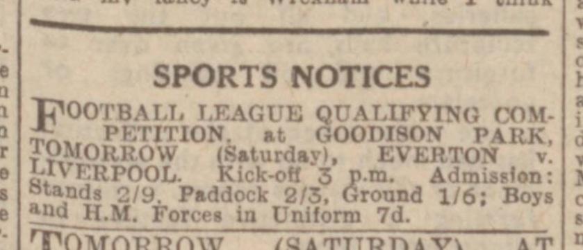 newspaper-ad-everton-v-liverpool-february-3-1945-evening-express